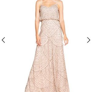Adrianna Papell Art deco blouson beaded gown